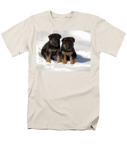 Men's T-Shirt  (Regular Fit) featuring the photograph German Shepherd Pups by Aimee L Maher Photography and Art Visit ALMGallerydotcom
