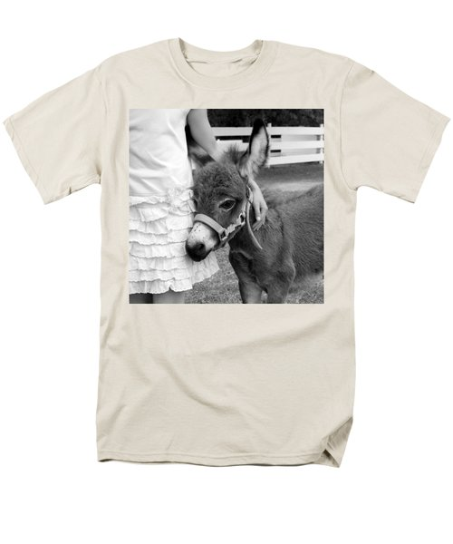 Girl And Baby Donkey Men's T-Shirt  (Regular Fit) by Brooke T Ryan