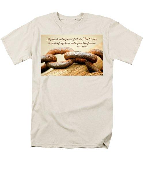 God Is My Strength Men's T-Shirt  (Regular Fit) by Carolyn Marshall