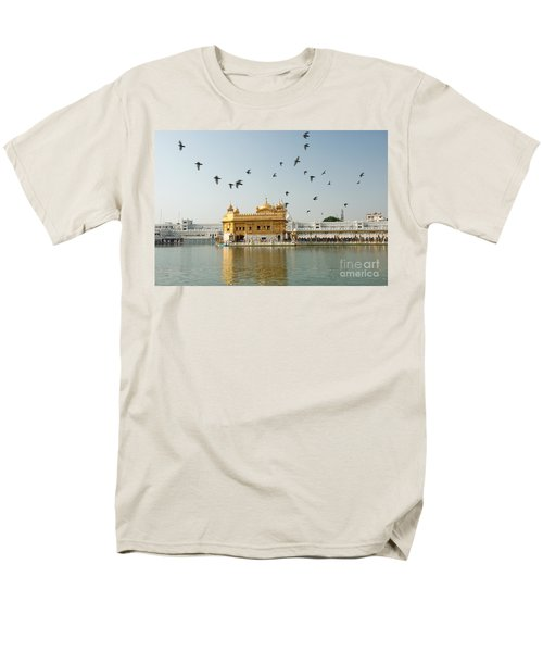 Golden Temple In Amritsar Men's T-Shirt  (Regular Fit) by Yew Kwang