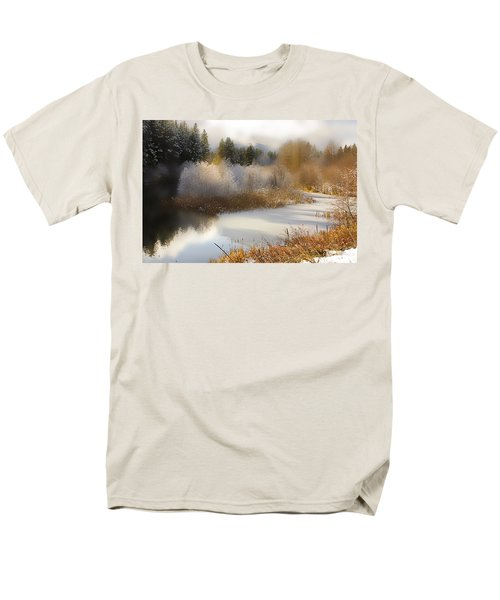 Golden Winter Men's T-Shirt  (Regular Fit) by Sonya Lang