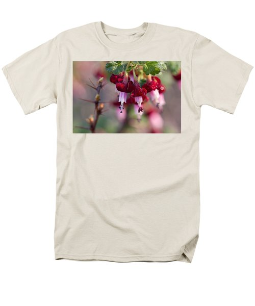 Men's T-Shirt  (Regular Fit) featuring the photograph Gooseberry Flowers by Peggy Collins