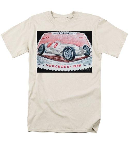 Grand Prix De Monaco 1936 Vintage Postage Stamp Print Men's T-Shirt  (Regular Fit) by Andy Prendy