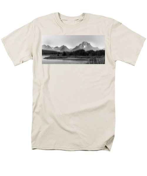Men's T-Shirt  (Regular Fit) featuring the photograph Grand Tetons Bw by Ron White