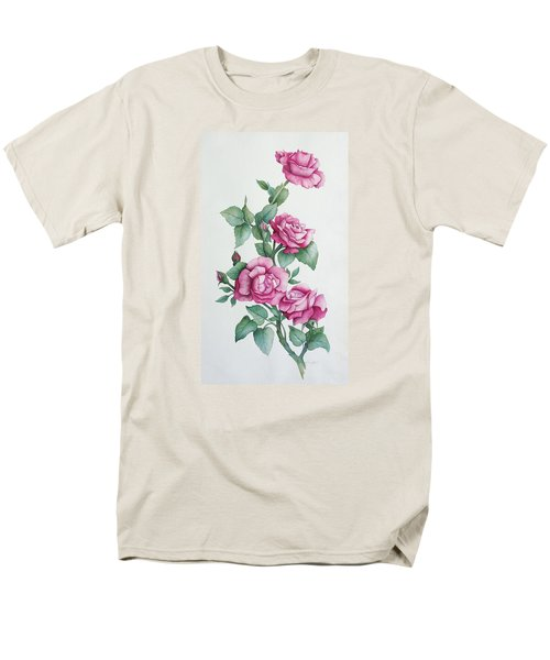 Men's T-Shirt  (Regular Fit) featuring the painting Grandma Helen's Roses by Katherine Young-Beck