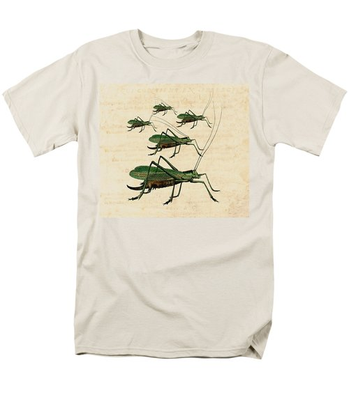 Grasshopper Parade Men's T-Shirt  (Regular Fit) by Antique Images