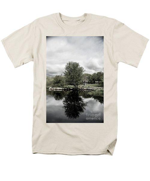 Grays Mill Pond Men's T-Shirt  (Regular Fit) by Angela DeFrias