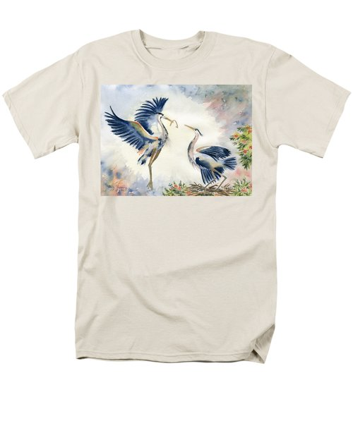 Great Blue Heron Couple Men's T-Shirt  (Regular Fit) by Melly Terpening
