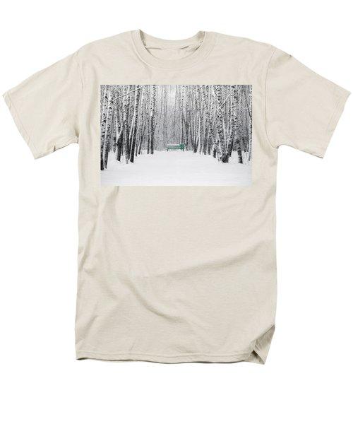 Green Bench Men's T-Shirt  (Regular Fit) by Alexander Senin