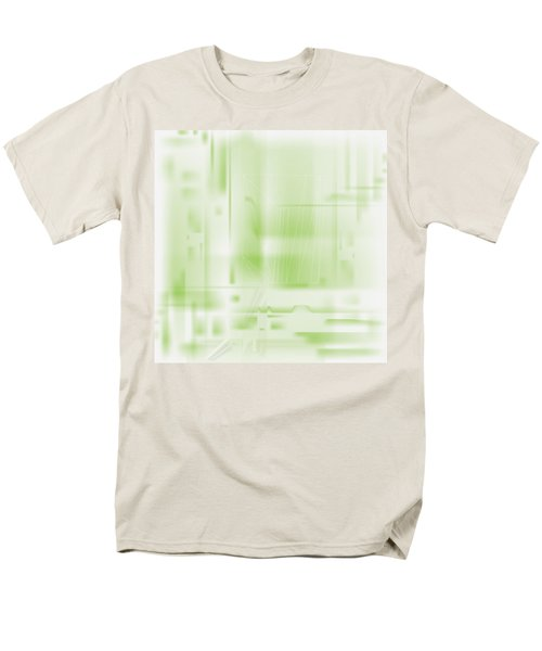 Green Ghost City Men's T-Shirt  (Regular Fit) by Kevin McLaughlin