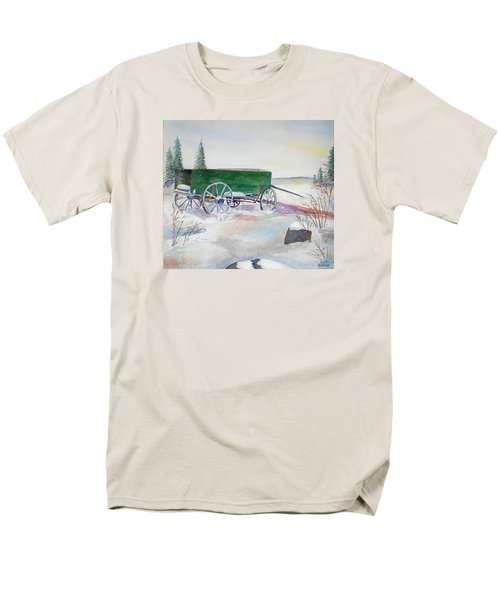 Green Wagon Men's T-Shirt  (Regular Fit) by Christine Lathrop