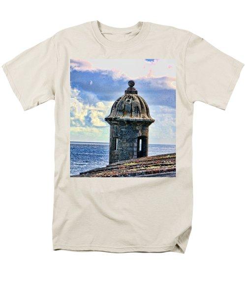 Guard Tower At El Morro Men's T-Shirt  (Regular Fit) by Daniel Sheldon