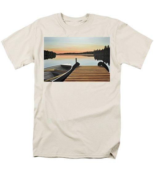 Men's T-Shirt  (Regular Fit) featuring the painting Haliburton Dock by Kenneth M  Kirsch