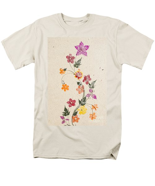 Men's T-Shirt  (Regular Fit) featuring the photograph handmade paper from Madagascar 3 by Rudi Prott