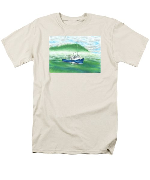 Harbor Men's T-Shirt  (Regular Fit) by Troy Levesque