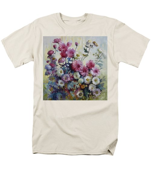 Men's T-Shirt  (Regular Fit) featuring the painting Harmonies Of Autumn by Elena Oleniuc