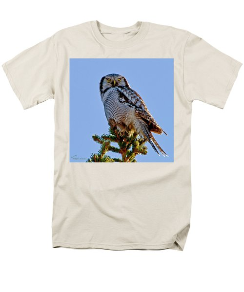 Hawk Owl Square Men's T-Shirt  (Regular Fit) by Torbjorn Swenelius