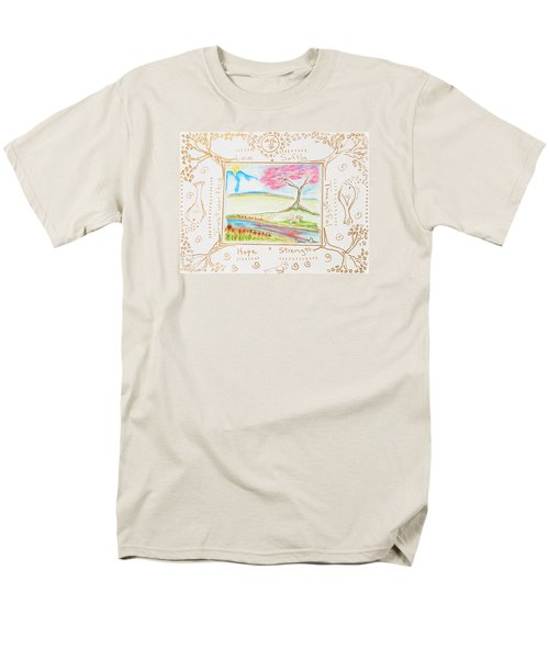 Men's T-Shirt  (Regular Fit) featuring the painting He Restores My Soul by Cassie Sears