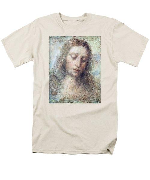Men's T-Shirt  (Regular Fit) featuring the drawing Head Of Christ Restoration Art Work by Karon Melillo DeVega