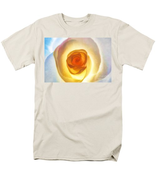 Men's T-Shirt  (Regular Fit) featuring the photograph Heart Of The Rose by Peggy Hughes