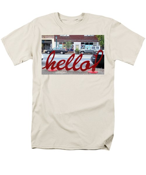 Hello Men's T-Shirt  (Regular Fit) by Kelly Awad