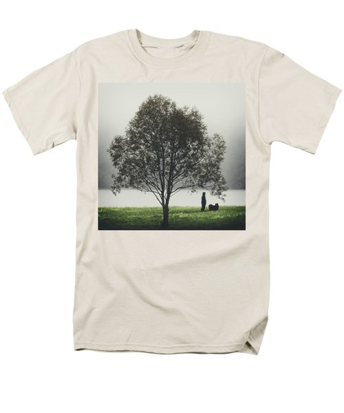 Her Life With A Dog Men's T-Shirt  (Regular Fit)