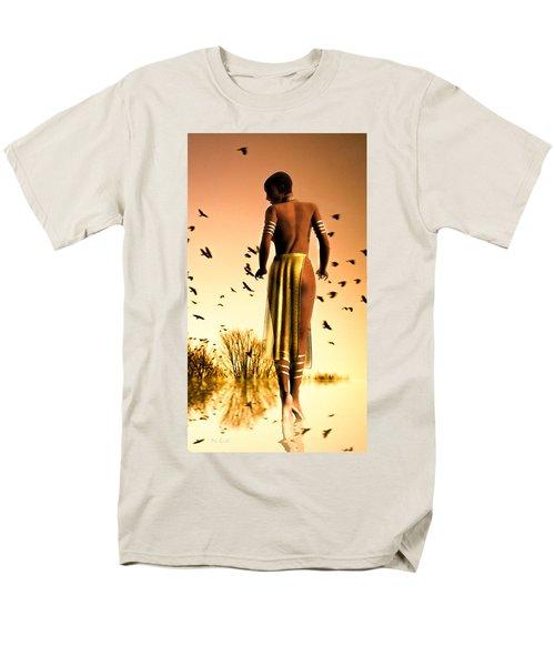 Her Morning Walk Men's T-Shirt  (Regular Fit) by Bob Orsillo