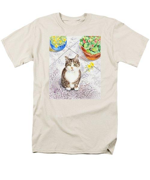 Here Kitty Kitty Kitty Men's T-Shirt  (Regular Fit) by Irina Sztukowski