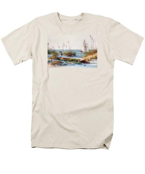 Heron And Sailboat Men's T-Shirt  (Regular Fit)