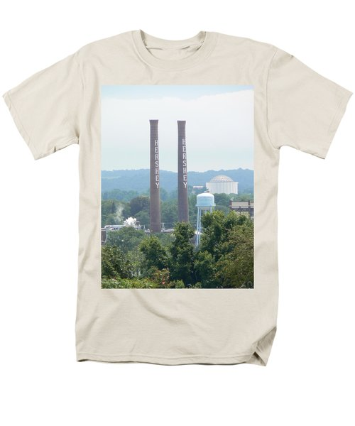 Hershey Smoke Stacks Men's T-Shirt  (Regular Fit) by Michael Porchik