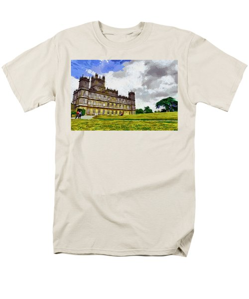 Men's T-Shirt  (Regular Fit) featuring the painting Highclere Castle by Georgi Dimitrov