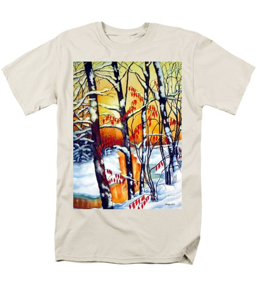 Highland Creek Sunset 2  Men's T-Shirt  (Regular Fit) by Inese Poga