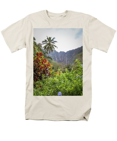 Hiilawe And Hakalaoa Falls Men's T-Shirt  (Regular Fit) by Denise Bird