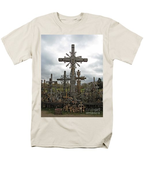 Hill Of Crosses 06. Lithuania.  Men's T-Shirt  (Regular Fit) by Ausra Huntington nee Paulauskaite
