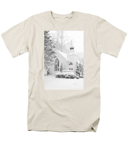 Men's T-Shirt  (Regular Fit) featuring the photograph White Christmas In Oella Maryland Usa by Vizual Studio