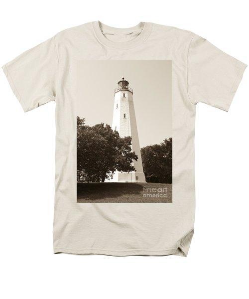 Historic Sandy Hook Lighthouse Men's T-Shirt  (Regular Fit) by Anthony Sacco