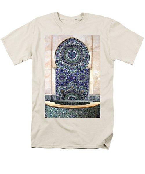 Holy Water Fountain Hassan II Mosque Sour Jdid Casablanca Morocco  Men's T-Shirt  (Regular Fit) by Ralph A  Ledergerber-Photography