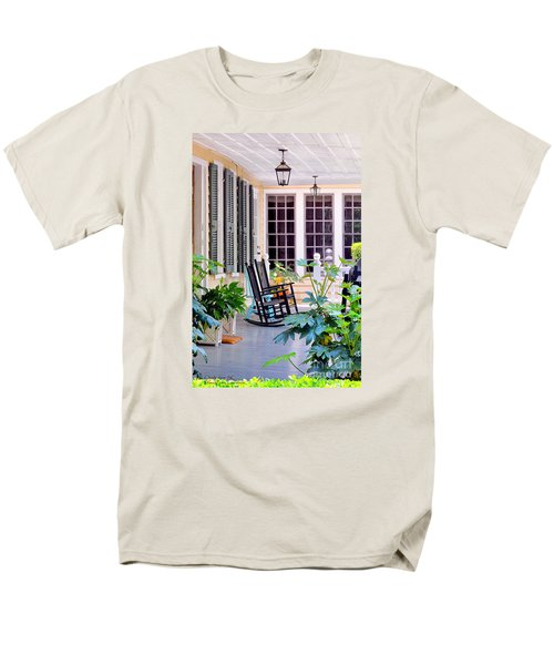 Veranda - Charleston, S C By Travel Photographer David Perry Lawrence Men's T-Shirt  (Regular Fit) by David Perry Lawrence