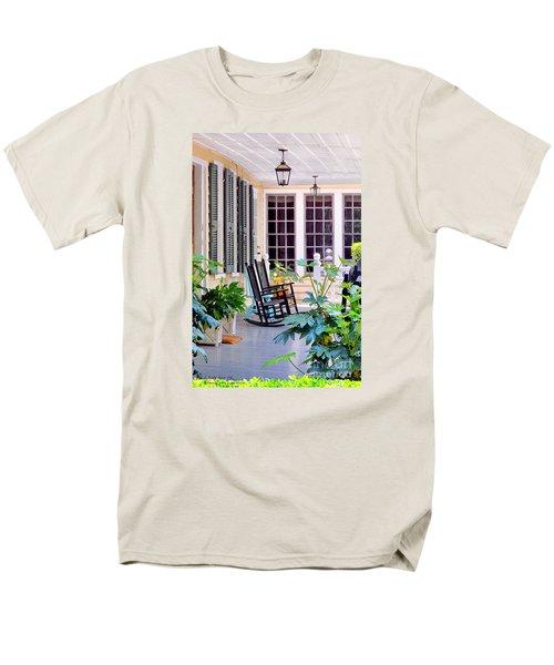 Veranda - Charleston, S C By Travel Photographer David Perry Lawrence Men's T-Shirt  (Regular Fit)