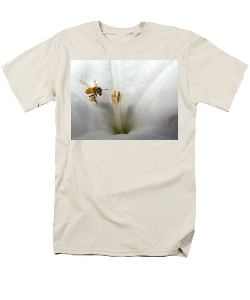 Honey Bee Up Close And Personal Men's T-Shirt  (Regular Fit) by Joyce Dickens