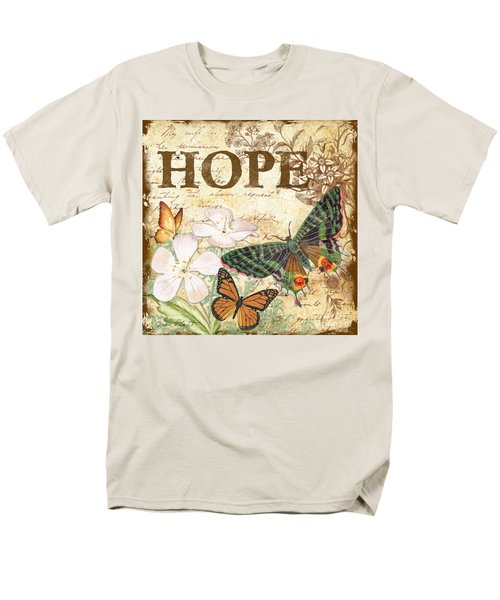 Hope And Butterflies Men's T-Shirt  (Regular Fit) by Jean Plout