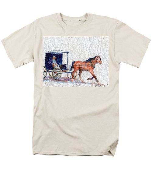 Horse And Buggy Men's T-Shirt  (Regular Fit) by Mary Haley-Rocks