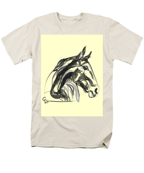 Men's T-Shirt  (Regular Fit) featuring the painting horse - Apple digital by Go Van Kampen