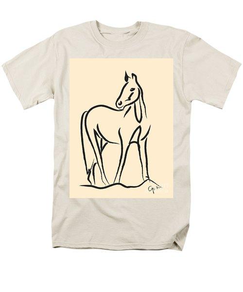 Men's T-Shirt  (Regular Fit) featuring the painting Horse - Grace by Go Van Kampen