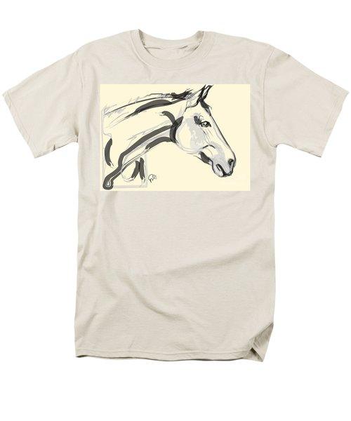 Men's T-Shirt  (Regular Fit) featuring the painting Horse - Lovely by Go Van Kampen