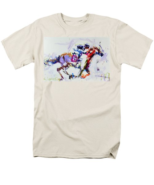 Horse Racing Print Men's T-Shirt  (Regular Fit) by Robert Joyner