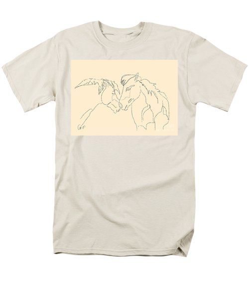 Men's T-Shirt  (Regular Fit) featuring the painting Horse - Together 3 by Go Van Kampen