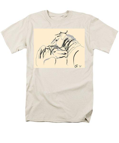 Horse - Together 4 Men's T-Shirt  (Regular Fit) by Go Van Kampen