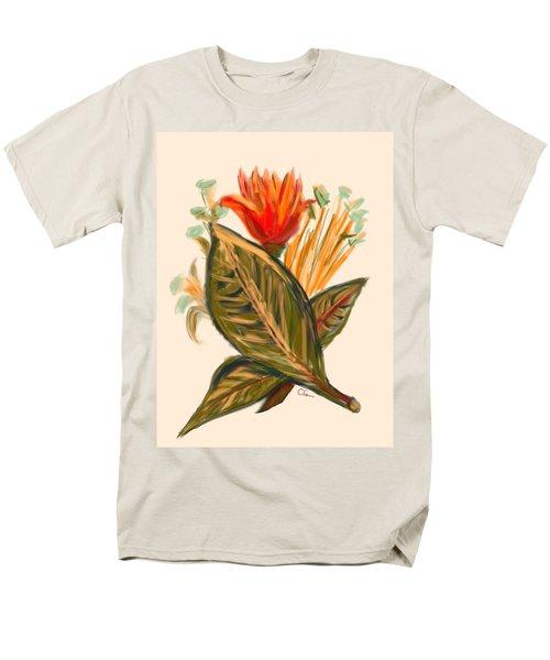 Men's T-Shirt  (Regular Fit) featuring the digital art Hot Tulip Spring by Christine Fournier
