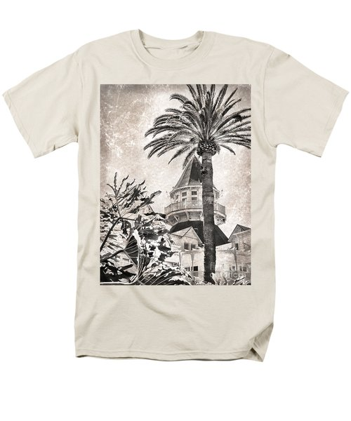 Men's T-Shirt  (Regular Fit) featuring the photograph Hotel Del Coronado by Peggy Hughes